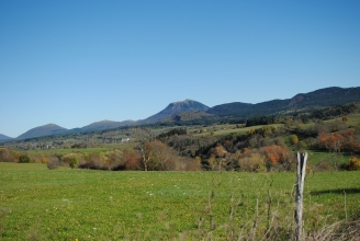 La chaine de Puy with Puy-de-Dome in the middle, Auvergne