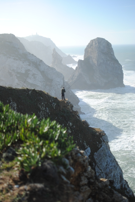 The Cabo da Roca faintly visible in the distance