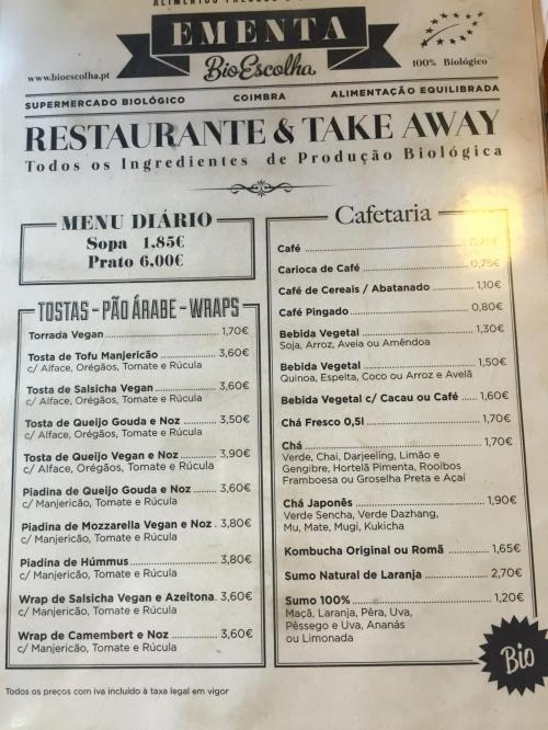 menu bioescolha
